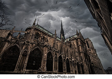 Notre Dame de Paris - Cathedral of Notre Dame in Paris