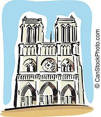 Notre Dame de Paris - illustration of Notre Dame de Paris