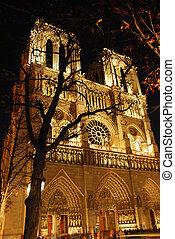 Notre Dame de Paris - Cathedral of Notre Dame de Paris at...