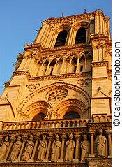 Notre Dame de Paris - Cathedral of Notre Dame de Paris in...