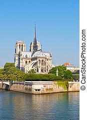 Notre Dame de Paris - View on Notre Dame de Paris at morning