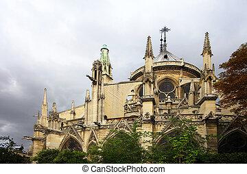 Notre Dame de Paris at day. France