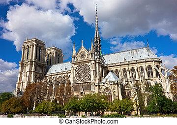 Notre Dame de Paris, famous cathedral in France