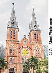 Notre dame de Saigon Cathedral, build in 1883 in Ho Chi Minh city, Vietnam