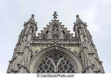 Notre-Dame du Sablon in Brussels, Belgium - The Notre-Dame...