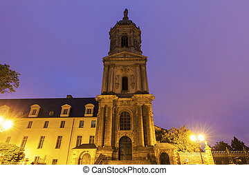 Notre-Dame-en-Saint-Melaine Church in Rennes. Rennes,...