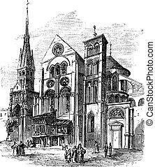 Notre-Dame-en-Vaux church, Chalons-en-Champagne, France...
