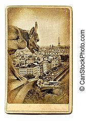 Notre Dame View - European Landmarks Vintage Cards