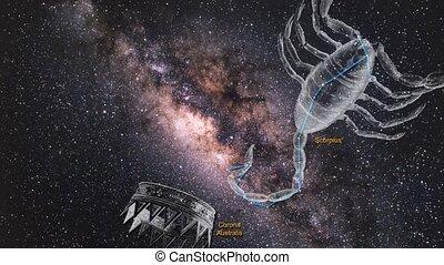 notre, galaxy., centre, zoom