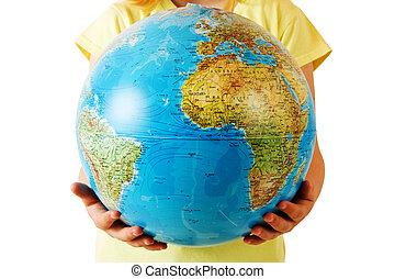 notre, mains, la terre