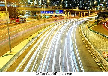notte, autostrada