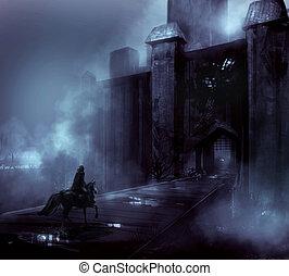 notte, castello