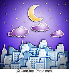 notte, città