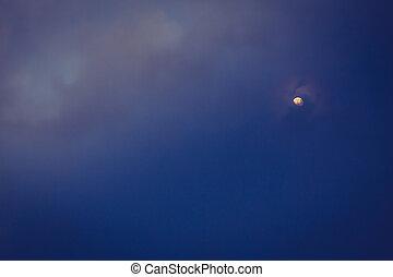 notte, filtrato, luna, immagine, (, trattato, effect., cielo, ), vendemmia