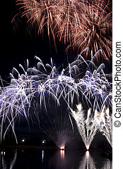notte, fireworks, tempo