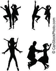 notte, lontano, ballo