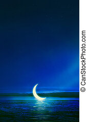 notte, luna