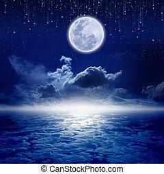 notte, luna piena