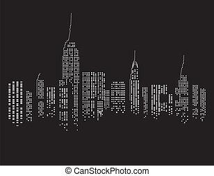 notte, new york