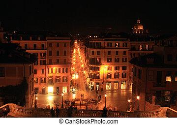 notte, roma, bello