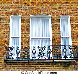 notting hill area in london england old suburban and brick