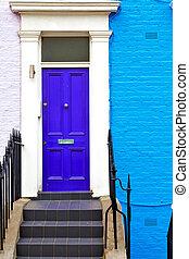 notting hill in old suburban wall door