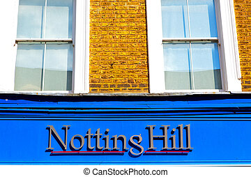 notting hill in suburban and antique wall