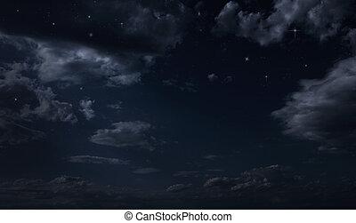noturna, céu estrelado