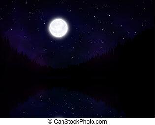 noturna, paisagem