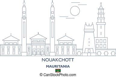 Nouakchott City Skyline, Mauritania - Nouakchott Linear City...