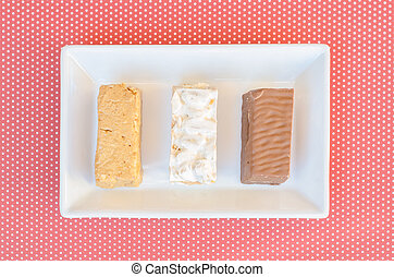 nougat, a typical dessert of Christmas in Spain