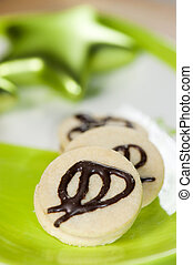 Nougat cookies on a plate