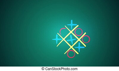 """Noughts and crosses play in green backdrop"" - ""Astonishing..."