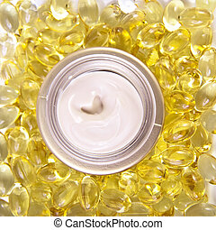 nourishing cream with omega acids