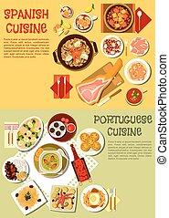Nourishing spanish and portuguese dishes symbol