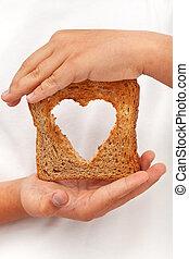 nourriture, à, amour