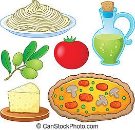 nourriture, 1, collection, italien