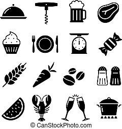 nourriture, 2, 169_vector, collection, icônes