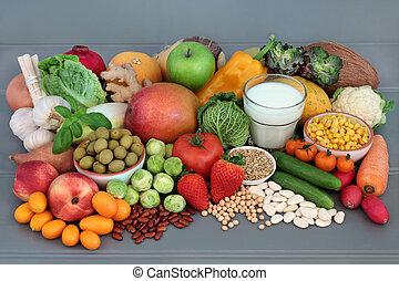 nourriture, alcalin, santé, échantillonneur