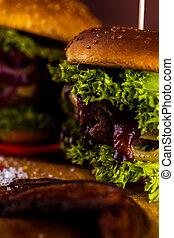 nourriture, américain, composition, ambiant