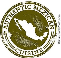 nourriture, authentique, mexicain, timbre