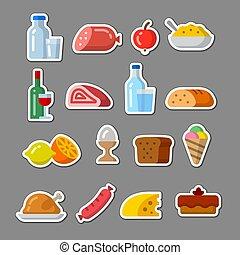 nourriture, autocollants