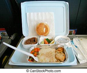 nourriture, avion, classique