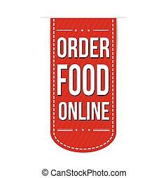 nourriture, bannière, ordre, conception, ligne