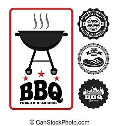 nourriture, barbecue
