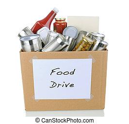 nourriture, boîte, conduire