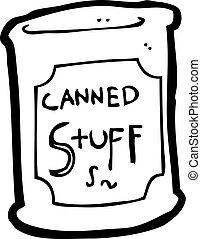 nourriture, boîte, dessin animé