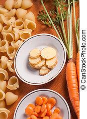 nourriture, bois, organique, table