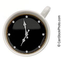 nourriture, café, arrière-plans, time., résumé