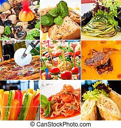 nourriture, collage